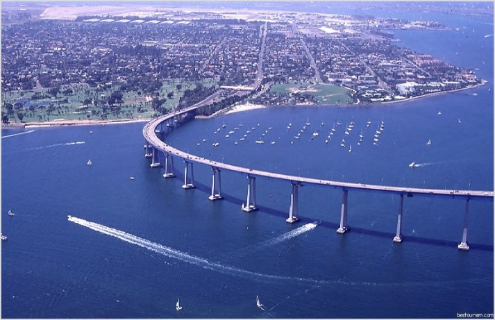The Coronado Bridge,San Diego   tourism destinations
