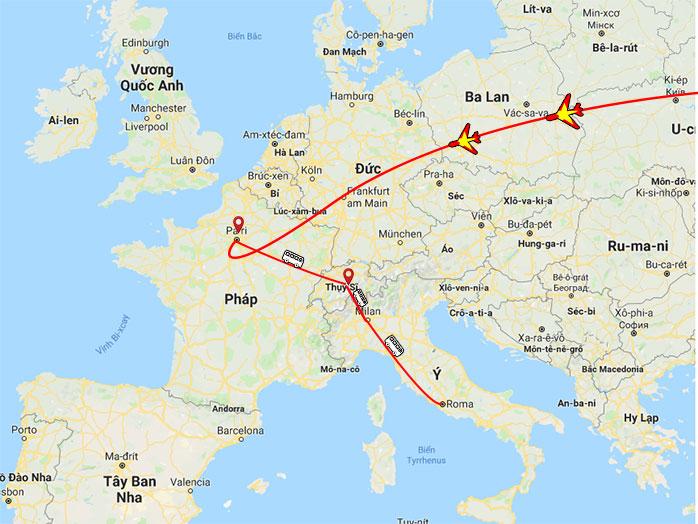 Lộ trình Tour Pháp - Thụy Sỹ - Ý - Vatican